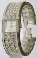 Bracelet montre bijou rétro quartz cristaux diamant couleur rodhié argent 4737