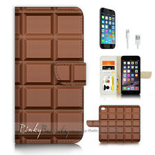 ( For iPhone 7 ) Wallet Case Cover P3464 Chocolate