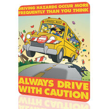 """METAL TIN SIGN The Simpsons """"Drive Caution"""" Security Collection 8 Decor Wall Art"""