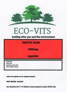 MASTIC GUM 1000mg 30 capsules antioxidant, anti-inflammatory, and antibacterial