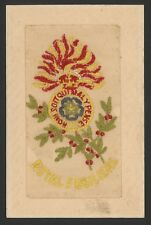 WW1 Embroidered Silk Postcard. Royal Fusiliers. City of London Regiment