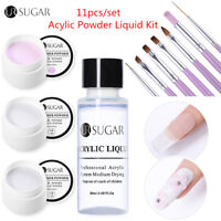 UR SUGAR 11pcs/set Acrylic Powder Liquid Extension Builder Gel Nail Brush Design