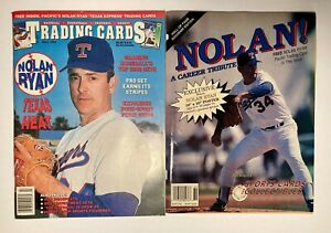 Nolan Ryan Trading Cards Mag 1992 & Sports Cards Collect. Mag 1993 poster/cards