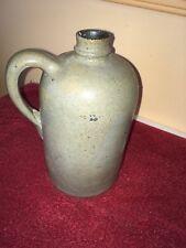 antique salt galze stoneware handled 8'' jug bottle