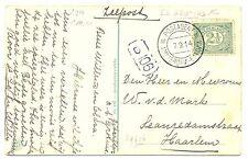 NEDERLAND  S.M.N. 1906  FOTO AK   =S.S. GROTIUS = POSTAGENT ST.  F/VF