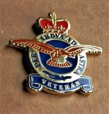 BRAND NEW MILITARY ENAMEL PIN BADGE RAF VETERAN PER ARDUA AD ASTRA , REMEMBRANCE