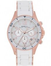 NEW MARC JACOBS MBM2547 WHITE ROCK CHRONOGRAPH WATCH - 2 YEAR WARRANTY