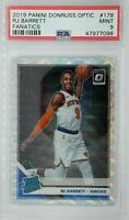 2019-20 Panini Optic Rated Rookie Fanatics Silver Wave RJ Barrett RC #178, PSA 9