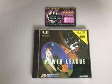 Power League 3 III Pc Engine JP Japan Boxed W/ Manual Good Cond