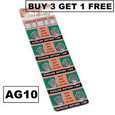 10 x Knopfzellen AG10 LR1130 LR54 GP89A Alkaline Uhrenbatterien Batterie Uhr B3