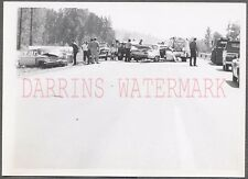 Vintage Car Photo Unusual 1959 Chevrolet vs 1961 Pontiac Wreck Tow Truck 687565
