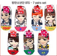 K Pop BTS Women's 7 Pairs of Socks /Bangtan boys Korean singer items
