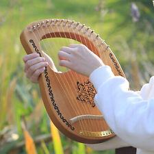 16-String Holz Leier Harfe, Mahagoni Holz String Instrument mit, Tuning