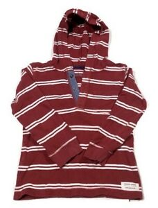 Carter's Long Sleeve Comfy Soft Hooded Red/White Striped Pull Over Shirt Size 5