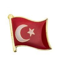 TURKEY FLAG Enamel Pin Badge Lapel Brooch Fashion Gift Turkish PN41
