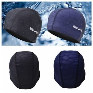 Waterproof Nylon Fabric 2X Swimming Cap Long Hair Swim Pool Hat for Unisex Adult