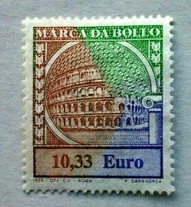 2002        SPLENDIDA  MARCA  da BOLLO  da Euro 10,33  Nuova MNH  cat.279 nva ac