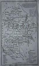 Original antique map BEDFORDSHIRE, BEDFORD , Capper, Cooper, Phillips, 1808
