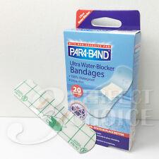40 pcs PARA-BAND Ultra 100% Waterproof Ultra-Thin Water-Blocker Clear Bandage