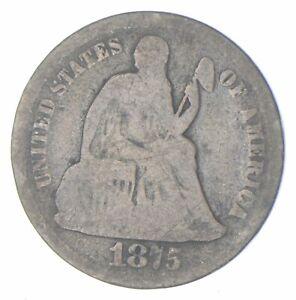 Historic 1875-CC Seated Liberty Dime *906