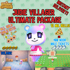 Animal Crossing New Horizons Judy Villager + 12MIL or 400 NMTs + GOLD DIYs!