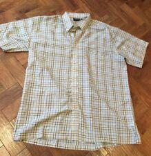 Men's Espionage 2xl Short Sleeved Checked Shirt button down collar VGC