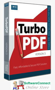 TurboPDF Turbo PDF v3 Not Acrobat Create View Edit Convert PDF Docs Scan OCR