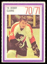 1970-71 ESSO POWER PLAYERS NHL #16 BOBBY CLARKE EX FLYERS UNUSED STAMP RC YEAR