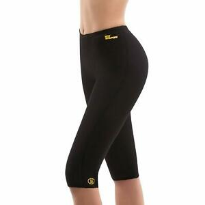 Hot Shaping Capri Pants Women's Thermal Exercise Compression Leggings Small S