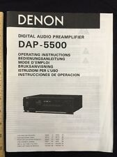 Denon DAP-5500 Preamp Original Owners Manual 14 English Pages, total pages 74