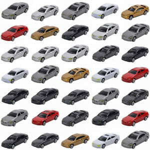 50pcs HO Scale Model Car 1:87 Building Train Scenery NEW C100