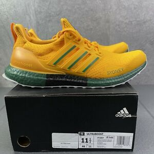 Adidas UltraBoost Dna Sydney Size 11.5 Mens Gold Black Running Casual Shoes