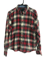 Woolrich Cotton Flannel Shirt Mens Small Red Plaid Button Down Long Sleeve Euc