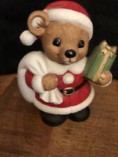 Lot Of 2 Vintage Christmas Homco Santa Claus Bear Bank Santa Toy Bag