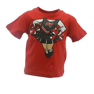 Tampa Bay Buccaneers Official NFL Apparel Infant Toddler Girls Size T-Shirt Tags
