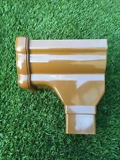 FLOPLAST Ogee Gutter RON3CA NIAGARA -  Right Hand STOPEND OUTLET - CARAMEL