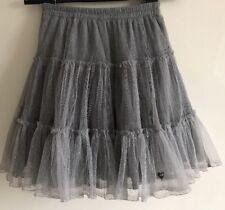 Lili Gaufrette Girls 10 Years Designer Grey Tutu Layered Skirt