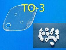 10 Kits Mica TO-3 29x42mm + Nylon Bushings Insulator Sheets Transistor Heat Sink