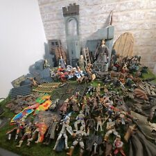 Lord Of The Rings Huge Bundle of Figures, Castle, Weapons, Horses