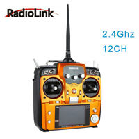 RadioLink AT10 II 2.4Ghz 10CH RC Transmitter with R12DS Receiver PRM-01 fr Drone