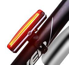Bicicleta luz USB recargable impermeable Bike Tail Light luces rojas estupendas