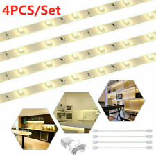 4x Kit de iluminación LED Bajo Armario Tira Conjunto de luz Armario Contador Cocina Estante