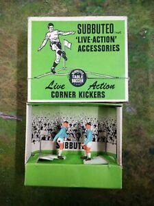 SUBBUTEO ⚽ :  LIVE ACTION CORNER KICKERS : FIGURES C131 vintage boxed (MAN CITY)