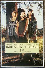 BABES IN TOYLAND 2015 Gig POSTER Portland Oregon Concert