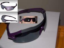 Mecara Designer Sport-Sonnenbrille mit Sportrahmen violet racer UV400