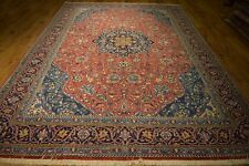 Red Oriental Sarouk design Wool Rug 8x11 Persian Hand Knotted Rugs Clearance