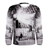 New NIKOLA Tesla Coil Laboratory Sublimed Long Sleeve T-Shirt Men Size S - 3XL