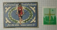 Christian Peace Covenant Reverse Ad Swiss Red Cross WW Charity Seal Poster Stamp