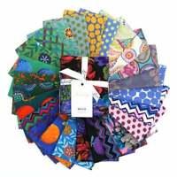Kaffe Fassett Collective 2020 Cool, Fat Quarter Bundle, 25pc Precut Quilt Fabric