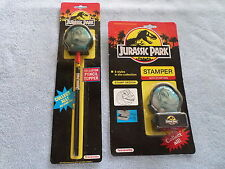 JURASSIC PARK PENCIL TOPPER & STAMPER - BOTH NIP - 1992 NOTEWORTHY - BRACHIOSAUR